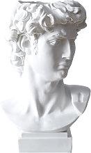 Retro scultura in resina bianca gesso testa