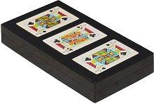 Rezza Scatola colorata di 3 mazzi di carte