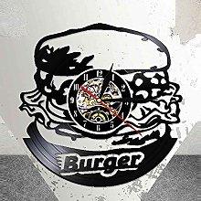 RFTGH Orologio da Parete Burger Kitchen Vinyl LP