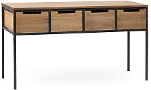 Ricevitore iCub 4 cassetti 140x48x78cm legno nero
