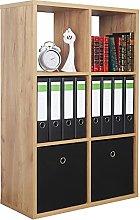 RICOO WM079-EG Scaffale 107 x 73 x 33 cm Libreria