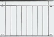 Ringhiera del balcone 90x128cm in acciaio inox