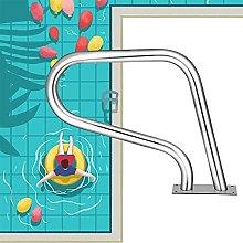 Ringhiera per piscina con piastra di base a