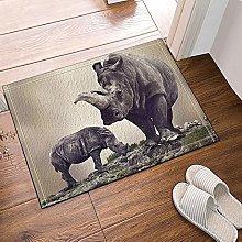 Rinoceronte animale selvatico Tappetino da bagno