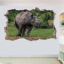 Rinoceronte Animali Selvatici Adesivo Murale