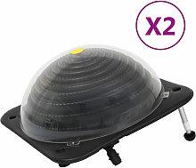 Riscaldatori Solari per Piscina 2 pz 75x75x36 cm