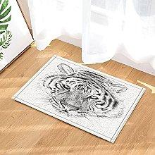 Ritratto della tigre disegnata a mano animale