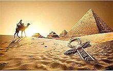 Rjyyll 5D Diamond Painting by Number Kit, Pyramids