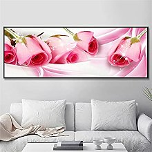 Rjyyll 5D Diamond Painting by Number Kit, Rosa