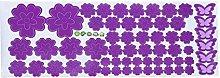 RK-HYTQWR Fiori Farfalla Rimovibile Decalcomania