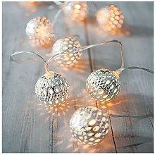 Rmine, catena luminosa con 40 LED, sfere da 6 m,