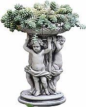 RNNTK Angelo Statua Vaso di Fiori Statuette da