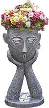 RNNTK Creativo Statua da Giardino Vaso di Fiori