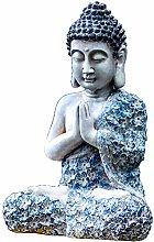 RNNTK Esterni Meditazione Buddha Scultura, Vintage