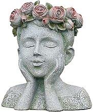 RNNTK Esterni Statua da Giardino Vaso di Fiori