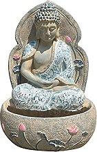 RNNTK Esterni Zen Buddha Scultura con Solare Luce