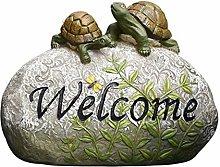 RNNTK Ornamento da Giardino Segno di Benvenuto