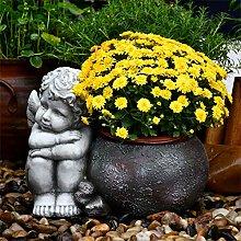 RNNTK Vaso di Fiori Statua da Giardino Fioriera