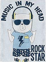 Rock Star Orso Pigppy Bandiera del Giardino Banner