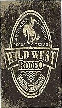 Rodeo Wild West Cowboy, 2 asciugamani da bagno,