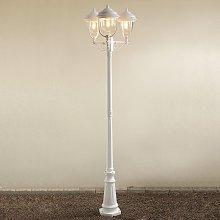 Romantico candelabro a 3 lanterne PARMA, bianco