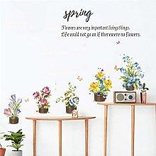 romantico fiore pianta bonsai farfalla adesivi