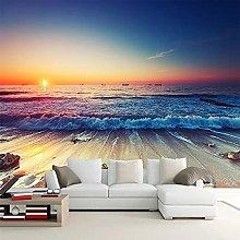 Romantico mare spiaggia tramonto paesaggio 3D