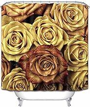 Rosa giallo bella semplice tenda doccia tenda