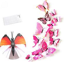 Rosa H-033 3D stereoscopico della farfalla di