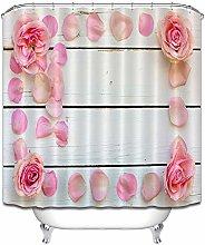 Rosa polline tenero petali di legno bianco