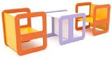 Rotolo Set Tavolo + 2 Sedute in Polietilene per