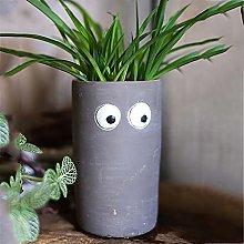 Rotondo Cemento Vasi Succulenti Con Fori