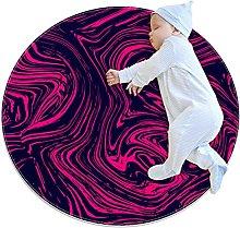 Rotondo Tappeto Colori rosa Tappeto Salotto