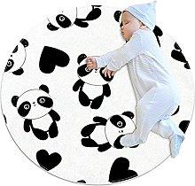 Rotondo Tappeto Panda Con Cuore Tappeto Salotto
