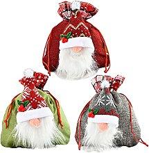 RTWAY 3 sacchetti natalizi per bambole, senza