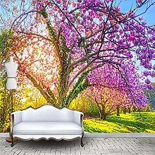 RTYUIHN Carta da parati 3d murale albero di fiori