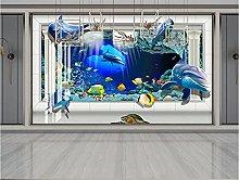 RTYUIHN Carta da parati 3d murale blu mondo