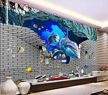 RTYUIHN Carta da parati 3d murale piastrelle mondo