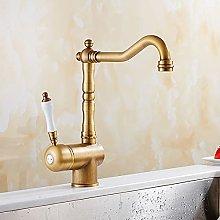 Rubinetto da cucina in bronzo antico, rubinetto