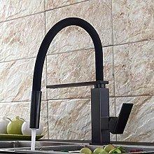 rubinetto da cucina in ottone antico nero