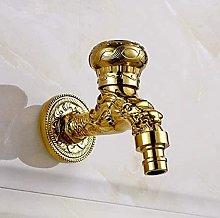 Rubinetto da giardino rubinetto dorato rubinetto a