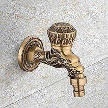 Rubinetto da giardino rubinetto in ottone antico a