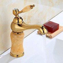 Rubinetto decorativo per bagno in oro Maniglia