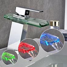 Rubinetto Miscelatore Auralum con Cascata A LED: