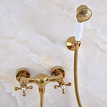 Rubinetto per doccia con soffione a mano in ottone