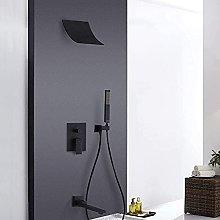 Rubinetto per doccia da bagno Set nero Soffione