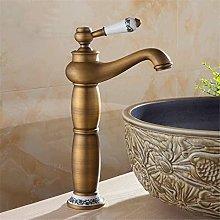 Rubinetto per lavabo alto in ottone rubinetto in