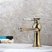 Rubinetto per lavabo rame-oro