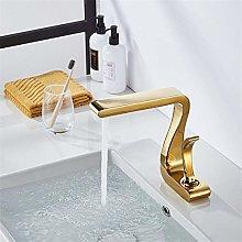 Rubinetto per lavabo Rubinetto per bagno in oro