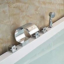 Rubinetto per vasca da bagno a cascata in ottone